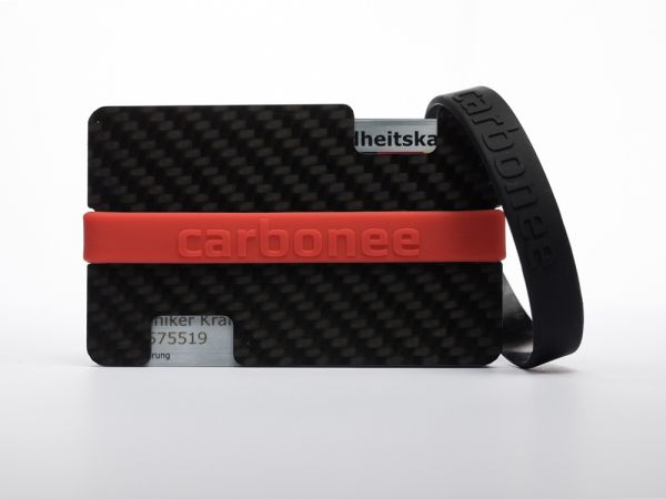 carbonée/black/red